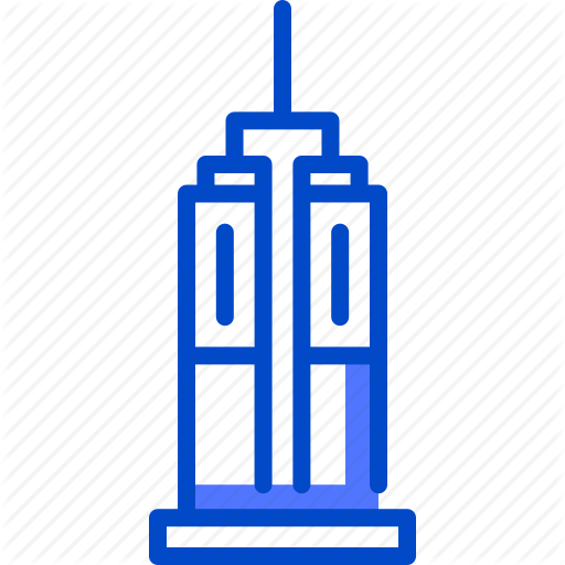 Building, Empire, Holiday, State, Suitcase, Tourism, Vacation Icon