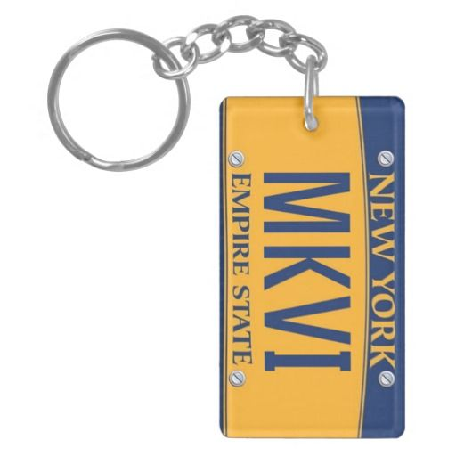 New York Empire State License Plate Keychain Mkvi