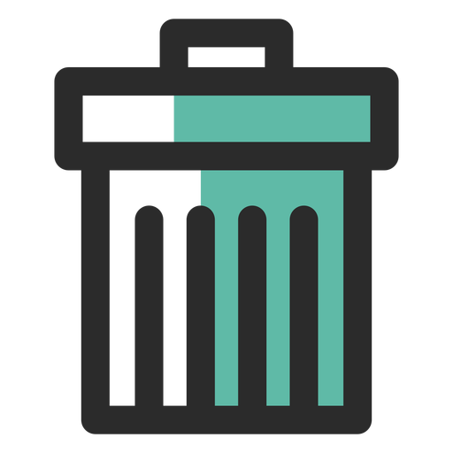 Recycle Bin Colored Stroke Icon