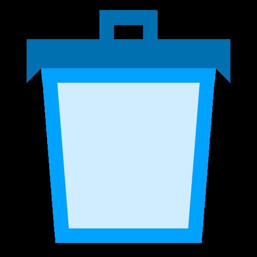 Trash Empty Icon Phlat Blue Folders Iconset Shaunkleyn
