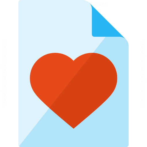 Iconexperience G Collection Document Heart Icon