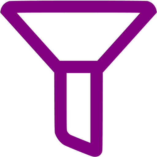 Purple Empty Filter Icon