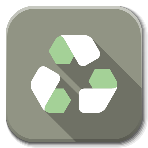 Apps Trash Empty Icon Flatwoken Iconset Alecive