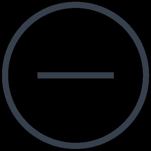 Close, Delete, Empty, Less, Minus, Remove, Subtract Icon