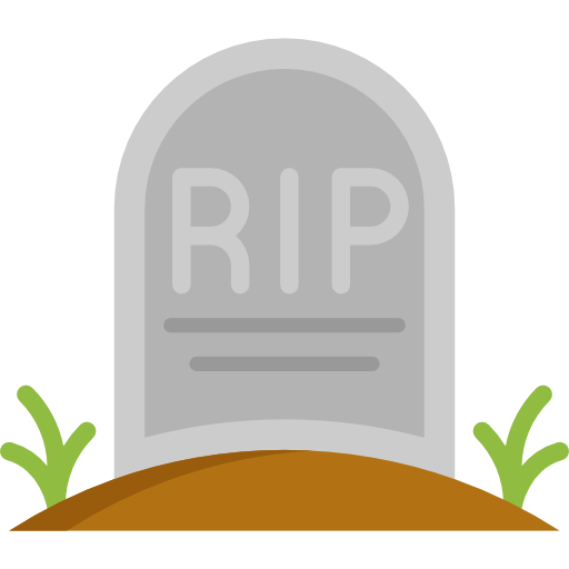 Rip, Cementery, Tomb, Tombstone, Scary, Outlined, Outline