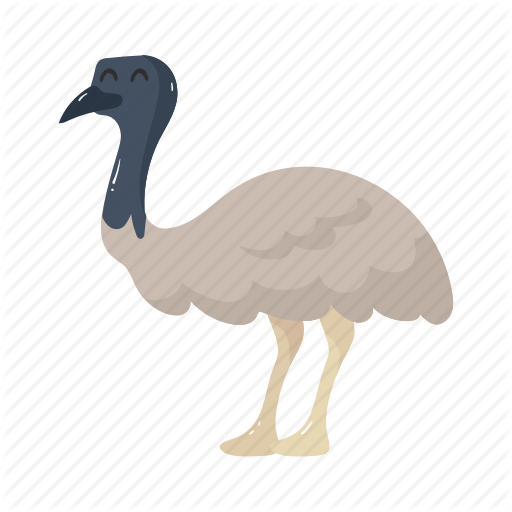 Animal, Australia, Bird, Colorful, Emu, Landmark, Object Icon