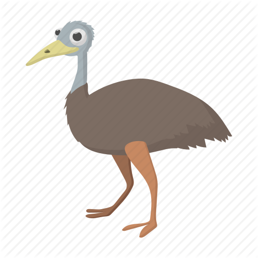 Australia, Australian, Bird, Cartoon, Emu, Feather, Vectior Icon