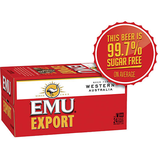 Emu Export Carton Bottles