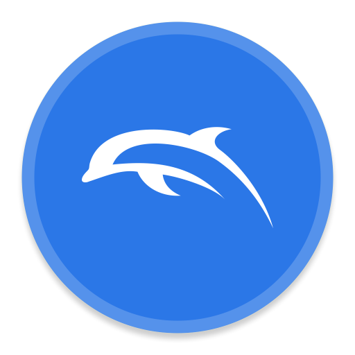 Dolphin, Emu Icon Free Of Button Ui