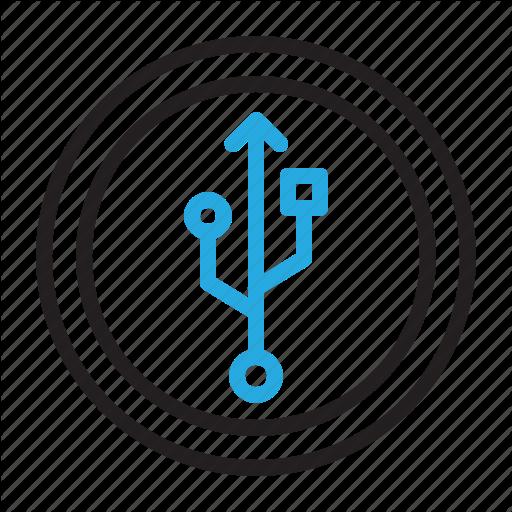 Enable, Plug, Sign, Usb Icon