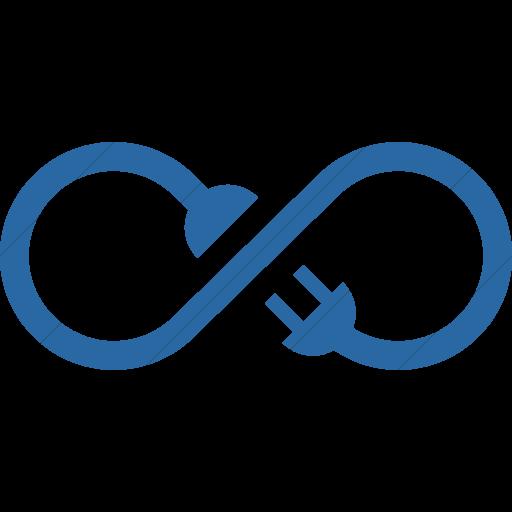 Simple Blue Iconathon Sustainable Energy Icon