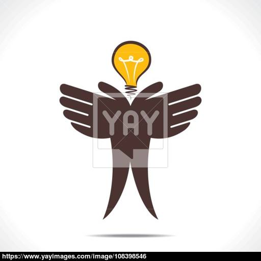 Save Energy Or Idea Concept Vector Vector