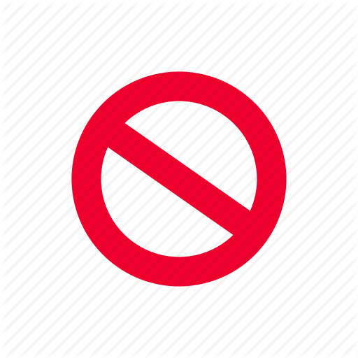 Cancel, Closed, Forbidden, No, No Entry, Restricted, Wrong Icon