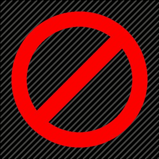 Forbidden, No, No Entry, Red, Stop Icon