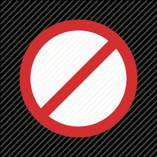 Forbidden, No, No Entry, Stop Icon