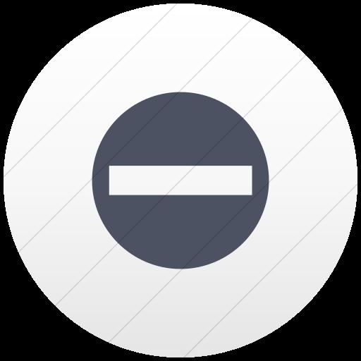 Flat Circle Blue Gray On White Gradient Aiga No Entry Icon