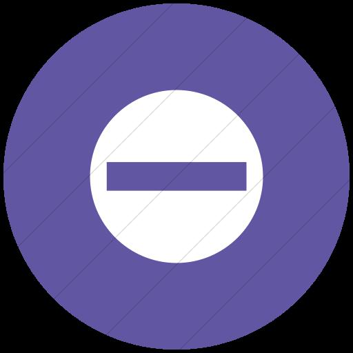 Flat Circle White On Purple Aiga No Entry Icon