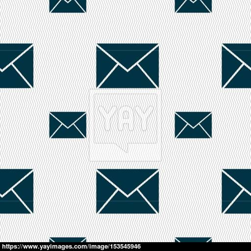 Mail, Envelope Icon Sign Seamless Pattern With Geometric Texture