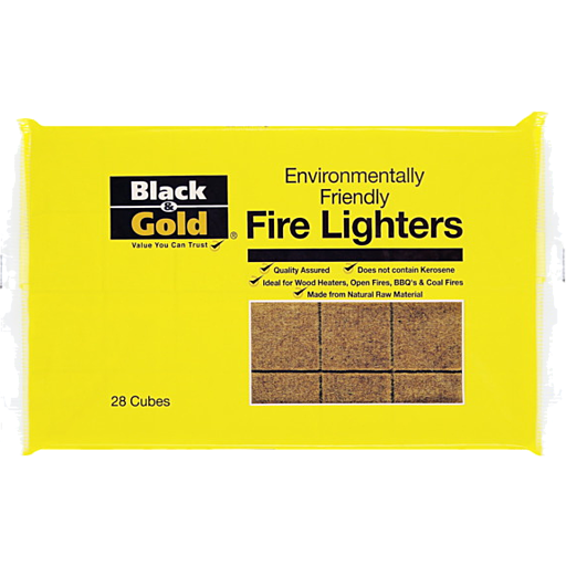 Black Gold Fire Lighters Environmentally Friendly Pack