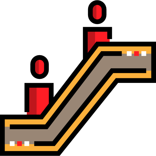 Tools And Utensils, Stair, Escalator Sign, Basic App, Escalator