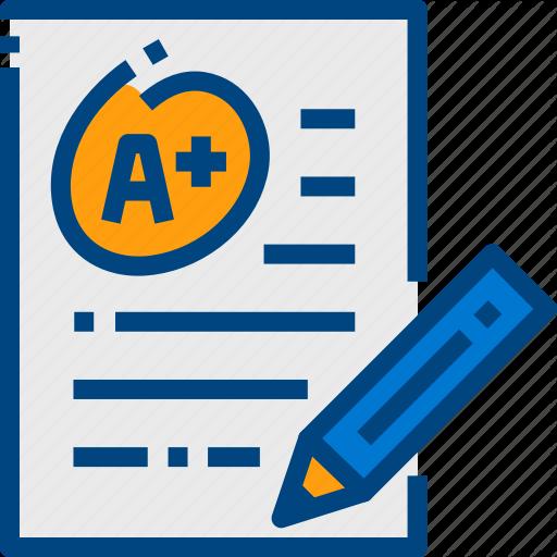 Essay, Exam, Paper, Pencil Icon