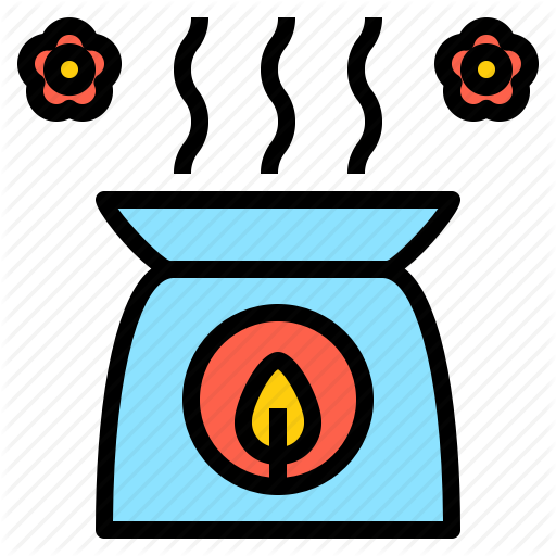 Aroma, Burner, Candle, Essential, Flower, Fresh, Oil Icon