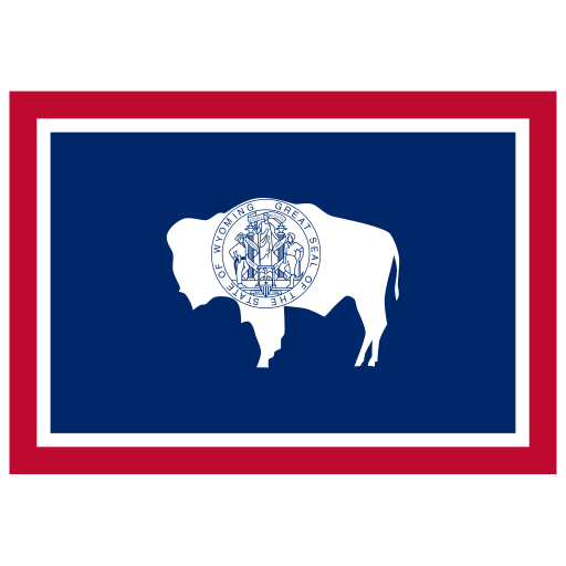 Us Wy Wyoming Flag Icon
