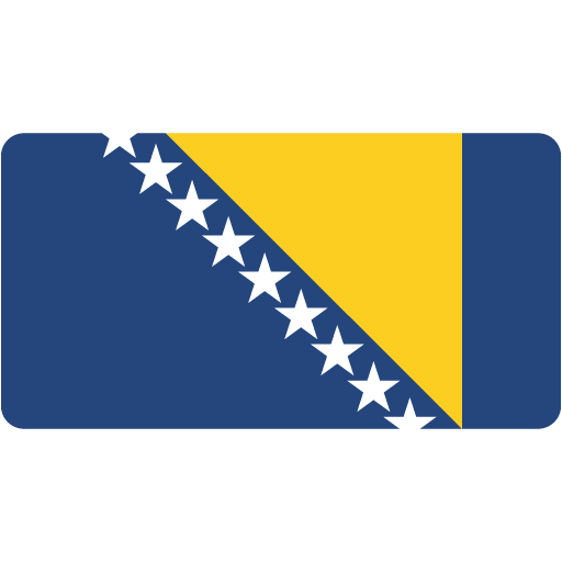 Bosnian Icon Flat Europe Flag Custom Icon Design