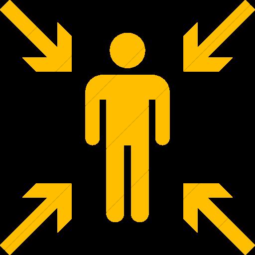 Simple Yellow Iconathon Evacuation Point Icon