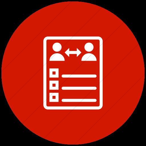 Flat Circle White On Red Iconathon Peer Evaluation Icon