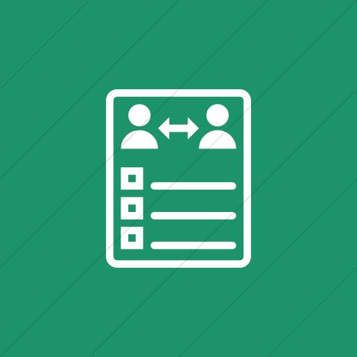 Flat Square White On Aqua Iconathon Peer Evaluation Icon