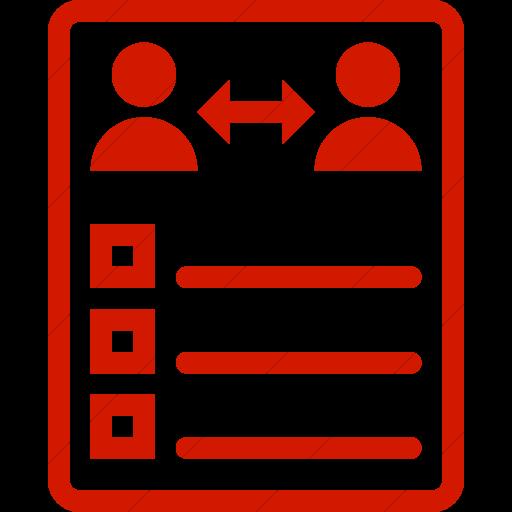 Simple Red Iconathon Peer Evaluation Icon