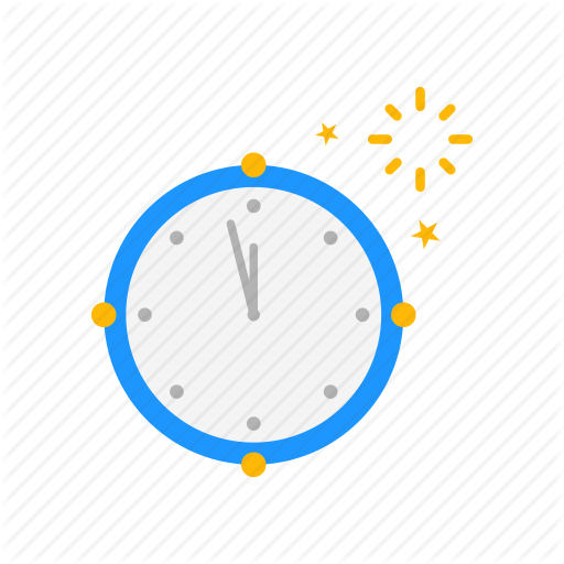 Clock, New Year's Eve, Time, Year Icon