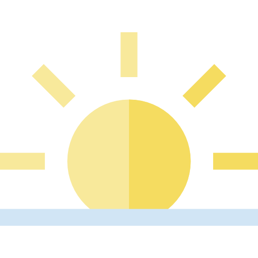 Evening, Dawn, Sun, Weather, Nature, Sunrise Icon