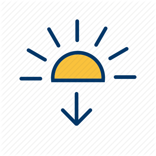 Evening, Sun Down, Sunset Icon