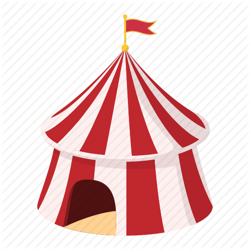 Arena, Cartoon, Entertainment, Festival, Flag, Show, Tent Icon
