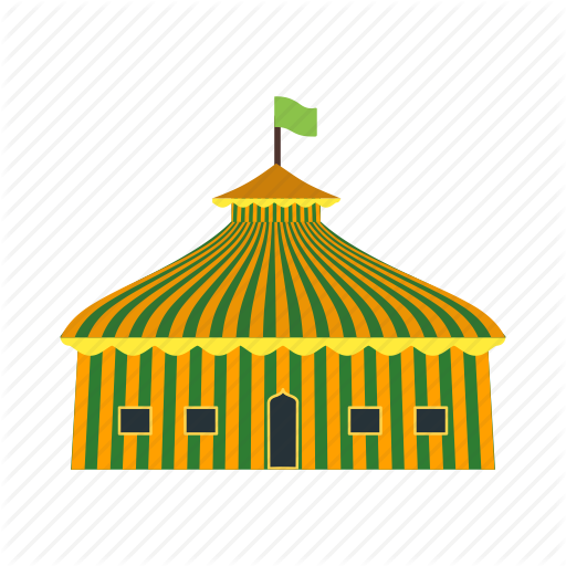 Big, Circus, Colorful, Event, Flag, Fun, Tent Icon