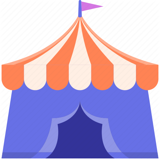 Canopy, Circus, Party, Tent Icon