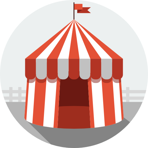 Circus Icon Flat Iconset Flat