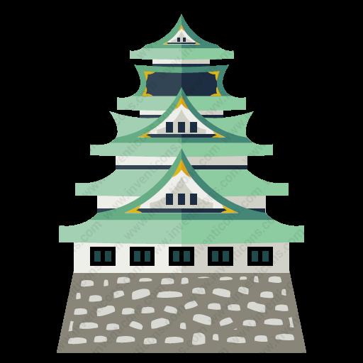 Download Osaka,castle Icon Inventicons