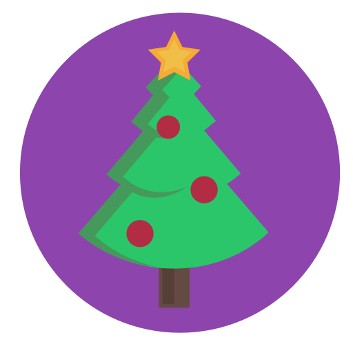 Christmas, Star, Tree, Bauble, Evergreen, Decorated Icon