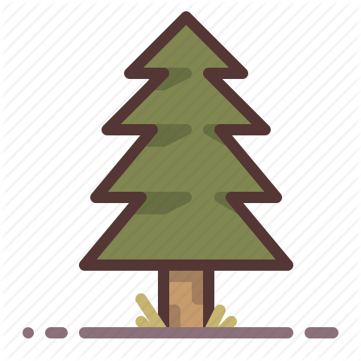 Coniferous, Evergreen, Fir, Forest, Park, Pine, Tree Icon