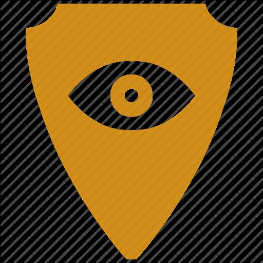Devil, Evil, Eye, Shield Icon