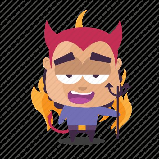 Boy, Devil, Emoji, Evil Icon