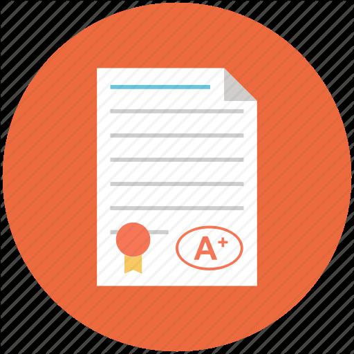A Paper, Exam, Grade, Grades, School Icon, Test Icon