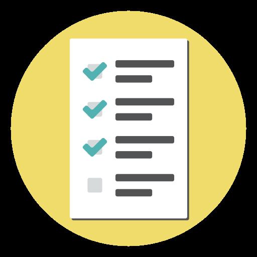 Document, Test, Report, Form, Checklist, Exam Icon