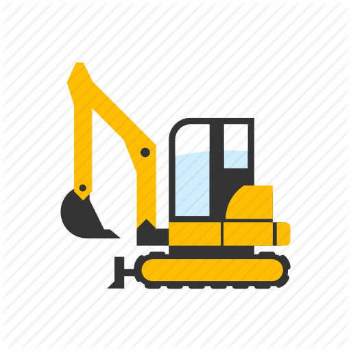 Construction, Digger, Digging, Excavator, Light, Mini, Small Icon