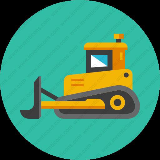 Download Bulldozer,excavator Icon Inventicons