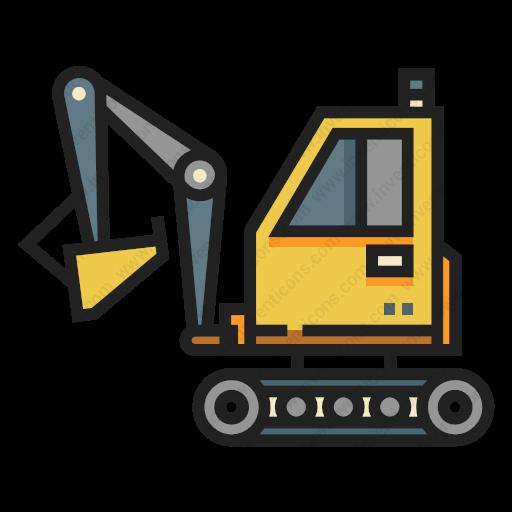 Download Excavator Icon Inventicons