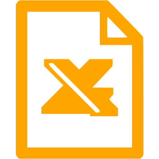 Orange Excel Icon